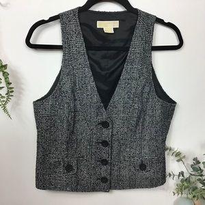 Michael Kors Tweed Vest Black & White